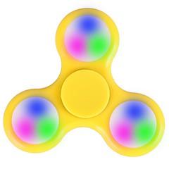Fidget spinner -stressilelu hand Spinner Lelut Tri-Spinner LED Spinner Muovi EDCLED-valo Stressiä ja ahdistusta Relief Office Desk Lelut