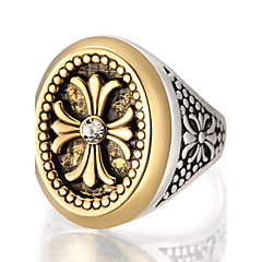 Pierscionek Duże pierścionki Unikalny Modny Postarzane Osobiste euroamerykańskiej luksusowa biżuteria Wyrazista biżuteria StopRound Shape