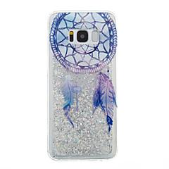 Voor Samsung Galaxy S8 plus s8 telefoon hoesje droomvanger patroon vloeibaar vloeibaar glitter soft tpu materia s7 rand s7 s6 rand s6 s5