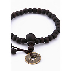Women's Men's Strand Bracelet Jewelry Natural Fashion Wood Alloy Irregular Jewelry For Special Occasion Gift