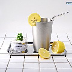 Gaan Glazen en bekers, 500 Roestvast staal Sap smoothie Waterflessen