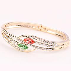 Γυναικεία Χειροπέδες Βραχιόλια Κοσμήματα Φύση Μοντέρνα Πεπαλαιωμένο Χειροποίητο κοστούμι κοστουμιών Στρας Κράμα Heart Shape Κοσμήματα Για