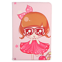 For Apple iPad Mini1 2 3/4 Case Cover with Stand Flip Pattern Full Body Case Sexy Lady Flower Hard PU Leather