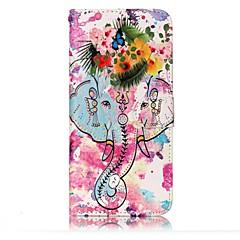 Dla samsung galaxy s8 s8 plus obudowa okładka słonie i kwiaty wzór shine relief pu materiał stent portfel portfel telefon przypadku s7 s6