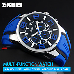 SKMEI  Quartz Wristwatches Fashion Sport Stop Watch Auto Date 30M Waterproof Clocks Relogio Masculino Male Brand Watches