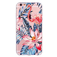 Dla jabłko iphone 7 7 plus 6s 6 plus obudowa pokrowiec flamingo wzór malowany wysoki penetracja tpu materiał miękki skrzynka telefon