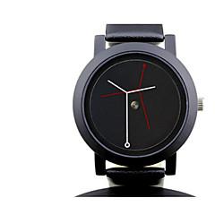 Жен. Муж. Модные часы Кварцевый Защита от влаги Pезина Группа Черный Белый
