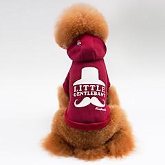 Γάτα Σκύλος Παλτά Φανέλα Φούτερ με Κουκούλα Ρούχα για σκύλους Καθημερινά Αθλήματα Γράμμα & Αριθμός Γκρίζο Κόκκινο