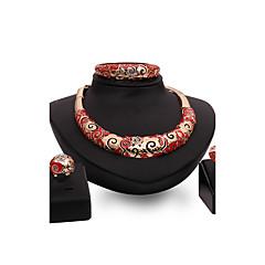 Női Ékszer készlet Strassz utánzás Ruby Divat Régies (Vintage) Személyre szabott Euramerican luxus ékszer Méretes ékszerek jelmez ékszerek