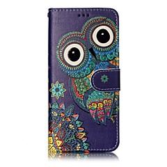 Til samsung galaxy s8 plus s8 telefon tilfælde ugle mønster lakering proces pu læder materiale telefon sag s7 kant s7 s6 kant s6