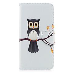 Για iPhone X iPhone 8 Θήκες Καλύμματα Θήκη καρτών Πορτοφόλι με βάση στήριξης Ανοιγόμενη Με σχέδια Πλήρης κάλυψη tok Κουκουβάγια Δέντρο
