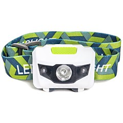 Mini Ultra-light Portable LED Headlamp Headlight Hands-free Flashlight 1 White 2 Red LED For 3 AAA Batteries