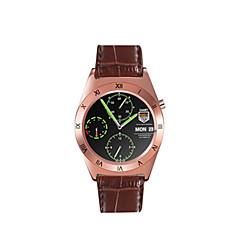 Hombre Mujer Reloj Deportivo Reloj Smart Digital Calendario Resistente al Agua Aleación Piel Banda Plata Marrón