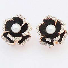 Dame Stangøreringe Dråbeøreringe Store øreringe Imiteret Perle Imiteret Diamant Enkelt design Rundt design Unikt design Logo Rhinsten