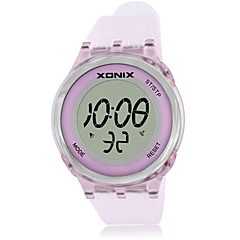 Women's Sport Watch Digital Water Resistant / Water Proof Rubber Band Pink Purple Yellow