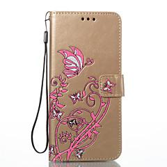 Samsung Galaxy s8 plusz s8 burkolata kártya tartó pénztárca állvánnyal lepattintható dombornyomott teljes test esetében virág pillangó