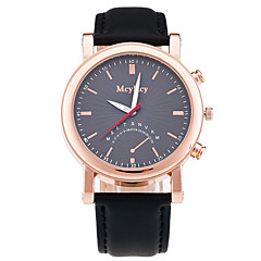 Men's Dress Watch Fashion Watch Chinese Quartz Leather Band Luxury Elegant Casual Black Brown