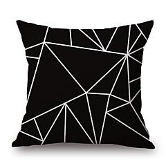 1 개 면/린넨 베게커버 베개 커버,기하학 패턴 노벨티 패션 기하학 빈티지 캐쥬얼 레트로 전통적/ 클래식 네오클래식 유럽의