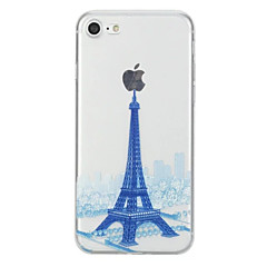 Voor Hoesje cover Patroon Achterkantje hoesje Eiffeltoren Zacht TPU voor AppleiPhone 7 Plus iPhone 7 iPhone 6s Plus iPhone 6 Plus iPhone