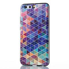 Voor huawei mate 8 mate 9 pro hoesje rooster patroon patroon reliëf tpu materiaal telefoon hoesje p10 p9 p8 lite 2017 6x nova v9