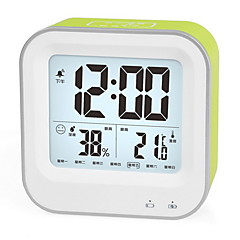 LED Rechargeable Alarm Clock Luminous Electronic Hygrometer