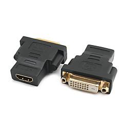 HDMI 2.0 Adapter, HDMI 2.0 to HDMI 2.0 DVI Adapter Hun - Hun 4K*2K Forgyldt kobber 1,0 Gbps