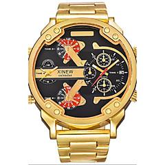 Hombre El reloj mecánico Chino Cuerda Automática Calendario Punk Aleación Banda Cool De Lujo Negro Naranja Gris Amarillo