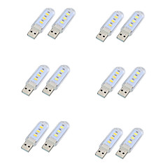 12pcs Mini USB LED Book lights 5730 Lamps Camping lamp For PC Laptops Computer Notebook Mobile Power Charger Reading Bulb Night light