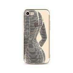 IPhone 7 és 7 borítója átlátszó háttámla tokban szexi hölgy puha tpu iPhone 6s plusz 6 plusz 6s 6 se 5s 5c 5 4s 4