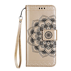 Case For Sony Xperia XA1 Ultra Xperia XA1 Case Cover Half Flower Pattern Glossy Embossed PU Skin Material Card Stent Phone Case For Sony Xperia XA