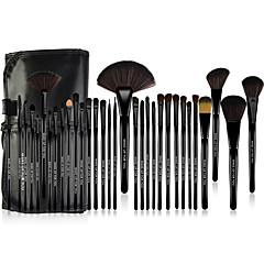 Make-up For You® Σετ με 32τμχ Επαγγελματικά Πινέλα Μακιγιάζ σε Μαύρο Χρώμα από Τρίχα Αλόγου για Βάση/ Πούδρα/ Ρουζ/ Σκιά/ Άιλαινερ/ Κραγιόν