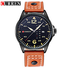 CURREN Casual Brand Luxury Waterproof Sport Military Watches  Leather Relogio Masculino Quartz Watch