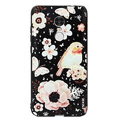 Voor xiaomi redmi note 4 case cover patroon achterkant behuizing cartoon bloem dier zacht silicone