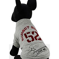 Hund Sweatshirt Hundetøj Afslappet/Hverdag Britisk Grå Lilla