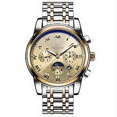 Tevise Női Férfi Páros Sportos óra Szkeleton óra Divatos óra mechanikus Watch Automatikus önfelhúzós Naptár Vízálló FénylőRozsdamentes