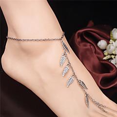 Kadın's Ayak bileziği/Bilezikler alaşım Moda Leaf Shape Mücevher Uyumluluk Günlük Odzież turystyczna