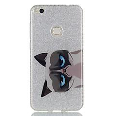 Voor Hoesje cover IMD Achterkantje hoesje Kat dier Glitterglans Hard TPU voor HuaweiHuawei P9 Huawei P9 Lite Huawei P8 Lite Huawei P8
