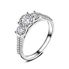 Dames Ring Sieraden Cirkelvormig ontwerp Cirkel Vriendschap Euramerican Eenvoudige Stijl Klassiek Verzilverd Ronde vorm Sieraden Voor