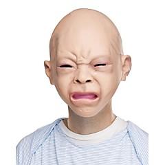 Halloween latex undorodott boldog sírni baba jelmez maszk halloween teljes fej baba maszkok új
