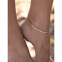 Kadın's Ayak bileziği/Bilezikler Bakır Moda kostüm takısı Mücevher Uyumluluk Günlük Günlük/Sade