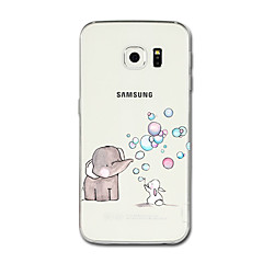 Voor Samsung Galaxy S8 Plus S8 case cover transparant patroon achterkant behuizing cartoon olifant zachte tpu voor Samsung Galaxy S7 rand