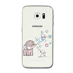 Samsung galaxy s8 plus s8 kotelon suojus läpinäkyvä kuvio takakannen tapaus sarjakuva elefantti pehmeä tpu samsung-galaxy s7 -reuna s7 s6
