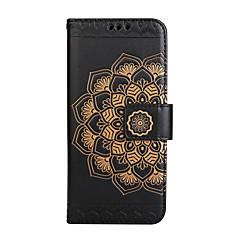 Case voor apple iphone 7 plus 7 kaarthouder portemonnee flip reliëf patroon full body case mandala bloem pu leer voor iphone 6 6s 6plus 6s