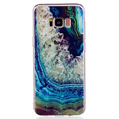 Samsung Galaxy s8 plusz s8 telefon esetében TPU anyag achát mintát festett telefon esetében s7 szélén s7 s6 él s6