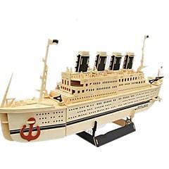 Legpuzzels DHZ-kit 3D-puzzels Bouw blokken DHZ-speelgoed Schip Hout