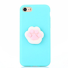 Voor case cover diy squishy achterkant behuizing solid color dier 3d cartoon zachte siliconen voor appleofoon 7 plus iphone 7 iphone 6s