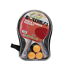Ping Pang/Πινγκ πονγκ Ρακέτες Ping Pang/Πινγκ πονγκ Μπάλα Ping Pang Καοτσούκ Μακριά Λαβή Σπυράκια2 Ρακέτα 3 Μπαλάκια επιτραπέζιου τένις 1