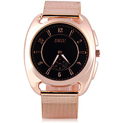 Męskie Modny Unikalne Kreatywne Watch Sztuczny Diamant Zegarek Chiński Kwarcowy sztuczna Diament Metal Pasmo Błyszczące Różowe złoto