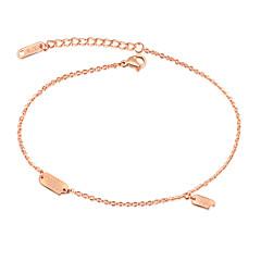 Dames Enkelring/Armbanden Titanium Staal Modieus Alfabetvorm Sieraden Voor Bruiloft Feest Feest/Uitgaan Dagelijks gebruik
