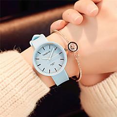 Dames Modieus horloge Polshorloge Chinees Kwarts Silicone Band Snoep Vrijetijdsschoenen Elegante horloges minimalistische Zwart Wit Groen